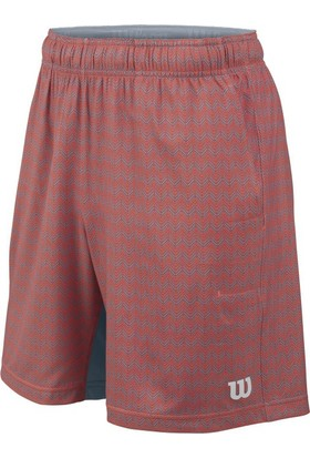 Wilson Summer Labyrınth 8 Erkek Şort - Hot Coral/Tradewinds (XL) ( WRA745901XL )