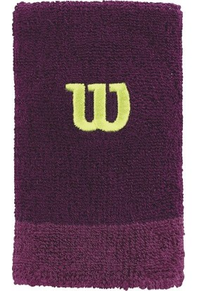 Wilson Extra Wide Wristband Bilek Ter Bandı - Purple Potion/Boysenberry/Green Glow ( WRA733505 )