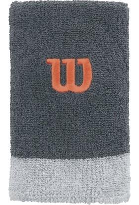 Wilson Extra Wide Wristband Bilek Ter Bandı - Turbulence/Pearl Grey/Nasturtium ( WRA733507 )