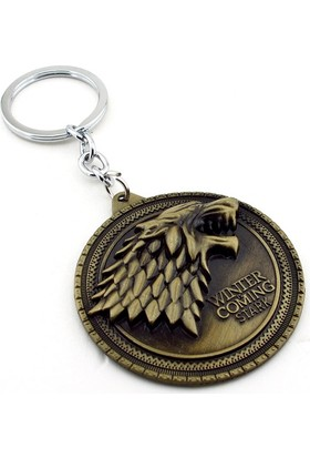 Solfera Game Of Thrones Stark Hanesi Bronz Metal Anahtarlık KC644