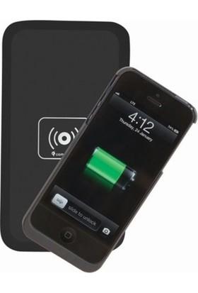 CresCent Wireless Charger Kablosuz Şarj Cihazı Tüm Modellerle Uyumlu Siyah