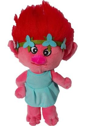 Kkd Oyuncak Peluş Bebek Troll Trolls Yağmur Ormanı Bebekleri Pembe