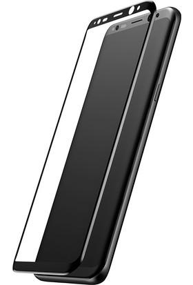 Baseus Samsung Galaxy S8 3D Cam Ekran Koruyucu Cam Ekran Koruyucu Siyah