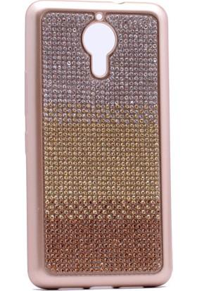 Kny General Mobile Gm5 Plus Kılıf Taşlı Renkli Laser Silikon+Cam