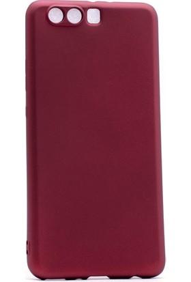 Kny Huawei P10 Kılıf Ultra İnce Mat Silikon+Cam