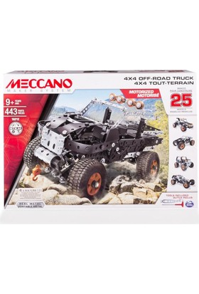 Meccano 25 Model Set - 4X4 Off-Road Truck