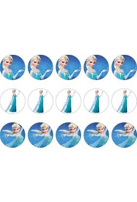 Frozen Cupcake Gofret Kağıt Baskı Elsa (21 x 29 cm)