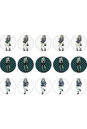 Monster High Cupcake Gofret Kağıt Baskı Frankie Stein (21 x 29 cm)