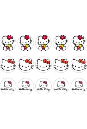 Hello Kitty Cupcake Gofret Kağıt Baskı (21 x 29 cm)