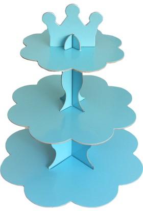 Mavi Karton Cupcake Standı (30 x 35 cm)