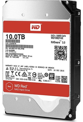 "WD Red 10 TB SATA III 3,5"" 6Gbit/s IntelliPower 256MB Cache NAS 7/24 Disk WD100EFAX"