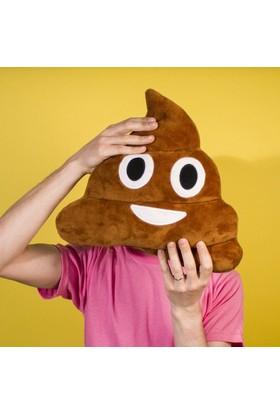 Wildlebend Kahverengi Gülen Poo Emoji Yastık