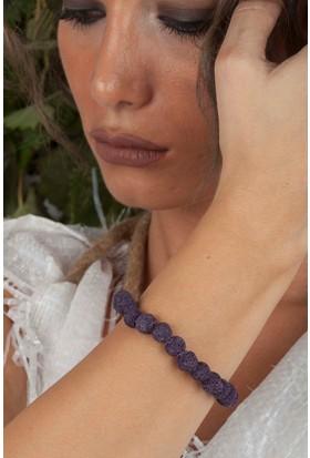 Dr Stone Doğaltaş Kadın Lav Taşı Bileklik 23Hdr123