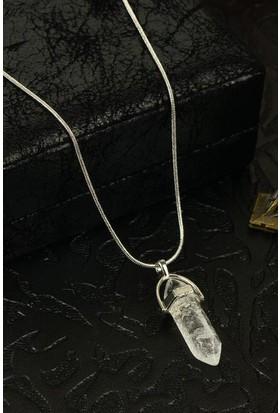 Dr Stone Doğaltaş Kadın Kristal Kuvars Kolye 24Hdr179