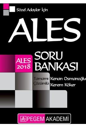 Pegem Yayınları 2018 ALES Sözel Adaylar için Tamamı Çözümlü Soru Bankası