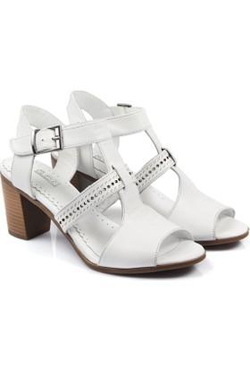 Gön Deri Kadın Sandalet 26043