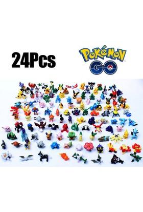 Pokemon Mini Anime Figür Oyuncaklar 24 Adet