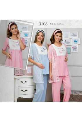 Haluk Bayram Baha Lohusa 3'lü Pijama Takım 3108