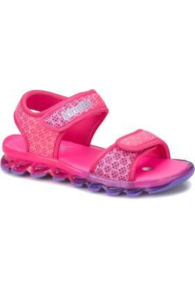 Kinetix Polka Fuşya Lila Kız Çocuk Sandalet