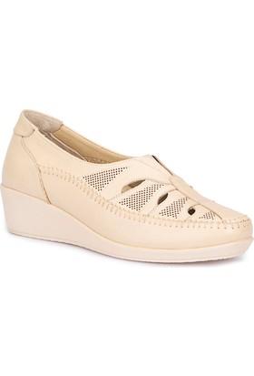 Polaris 5 Nokta 71.109633.Z Bej Kadın Deri Dolgu Topuk Ayakkabı