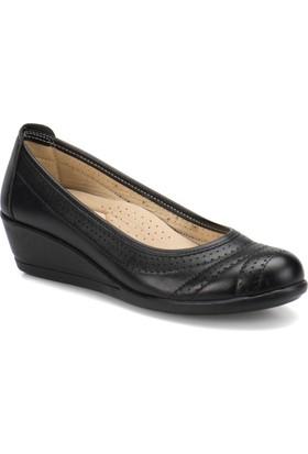 Polaris 71.157552.Z Siyah Kadın Dolgu Topuk Ayakkabı
