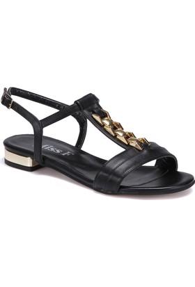 Miss F Ds17046 Siyah Kadın 545 Sandalet