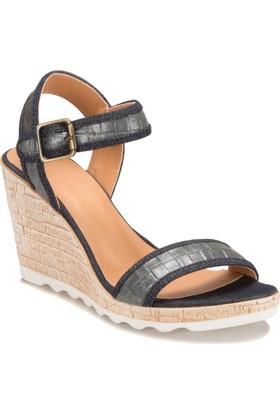 Miss F Ds17075 Gri Mavi Kadın 545 Sandalet