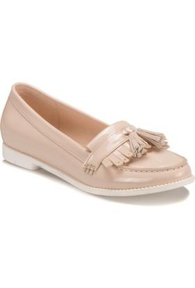 Miss F Ds17033 Bej Kadın Loafer Ayakkabı