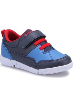 I Cool Adrıano Lacivert Kırmızı Saks Erkek Çocuk Sneaker Ayakkabı