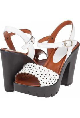 Koza Kadın Platform Topuklu Sandalet