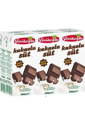 Yörükoğlu Kakaolu Süt 6x200 ml