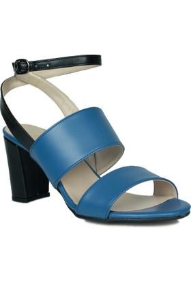 Loggalin 375322 031 400 Kadın Lacivert - Siyah Sandalet