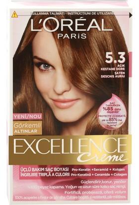 Loreal Paris Excellence 5/3 - Açık Kestane Dore Saç Boyası