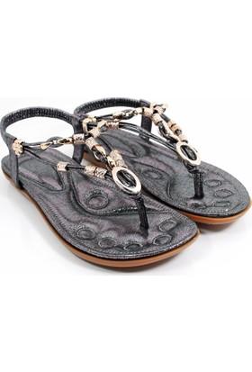 Guja Kadın Metalli Parmak Arası Terlik Sandalet 17Y414 3 02