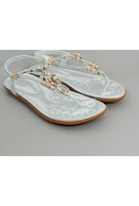 Guja Kadın Metalli Terlik Sandalet 17Y414 3 04
