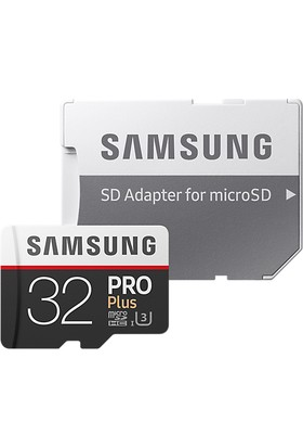 Samsung PRO Plus 32GB 100 MB/s microSDHC Kart (SD Adaptor) MB-MD32GA/EU