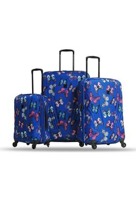 It Luggage Sert Kumaş 3'Lü Valiz Seti Desenli 1031