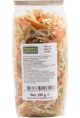 Makarna Lütfen Karışık Sebzeli Erişte 250 Gr