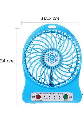Everest EFN-501 Mavi Masaüstü Şarj Edilebilir 1200mAh Usb Fan