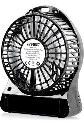 Everest EFN-501 Siyah Masaüstü Şarj Edilebilir 1200mAh Usb Fan