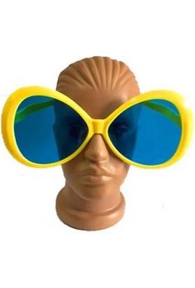 PartiStok Büyük Boy Oval Parti Gözlüğü Sarı Renk
