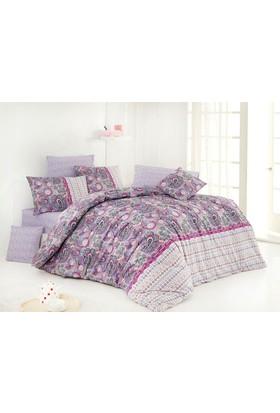 Nazenin Violet Lilac Çift Kişilik Nevresim Takımı