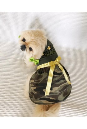 Kemique Köpek Elbisesi - Army By Kemique - Köpek Kıyafeti