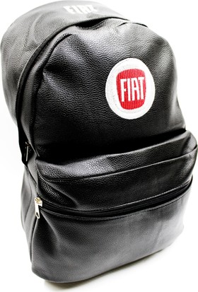 Simoni Racing Fiat Logo ve Yazılı Deri Sırt ve Bagaj Çantası 251130