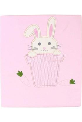 Yumurcak Tavşan Nakışlı Battaniye