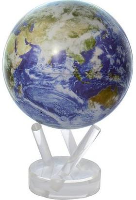 Mova Globe Işıkla Dönen Dünya Küresi Uzaydan Görüntü Bulutlu 12cm
