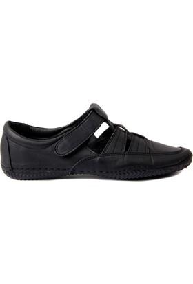 Sail Lakers Estile Hakiki Deri Siyah Kadın Ayakkabı