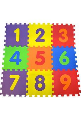 Direkstoktan Eva Puzzle Oyun Karosu 9 Parça Yer Halısı 33 cm x 33 cm Sayılar
