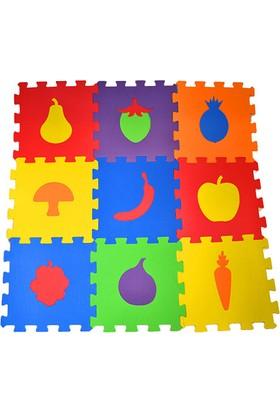 Direkstoktan Eva Puzzle Oyun Karosu 9 Parça Yer Halısı 33 cm x 33 cm Meyveler