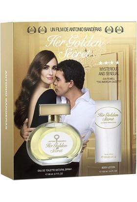 Antonio Banderas Her Golden Secret Edt 80 Ml + Body Lotion 75 Ml